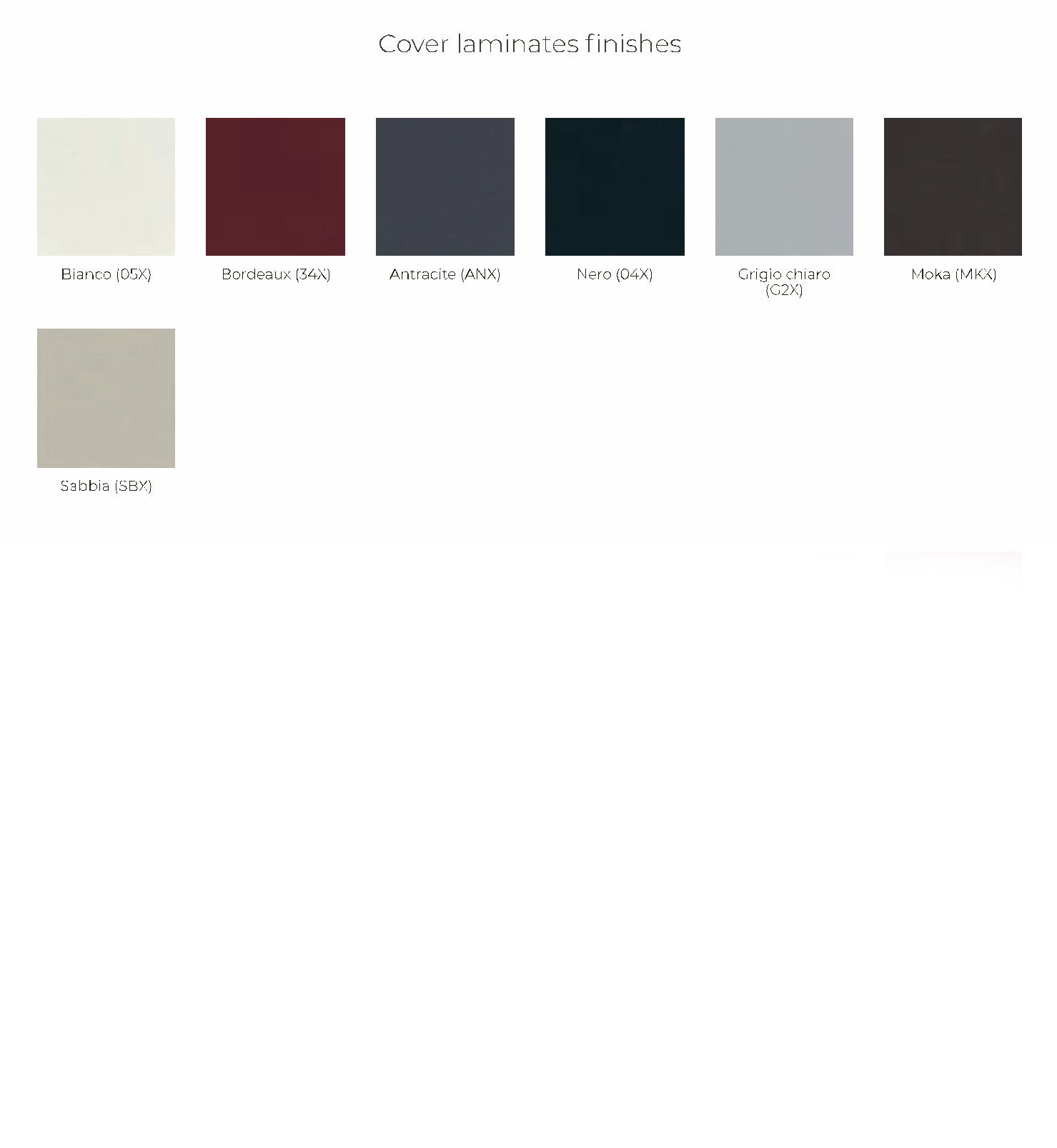 Cover laminates finishes