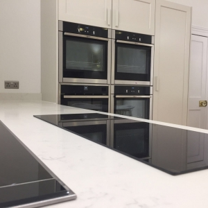 Appliances on quartz worktop